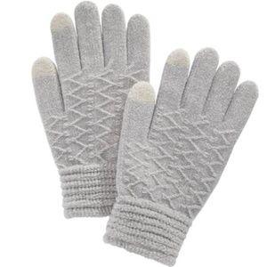 Steve Madden Touchscreen Gloves Metallic Grey OSFM